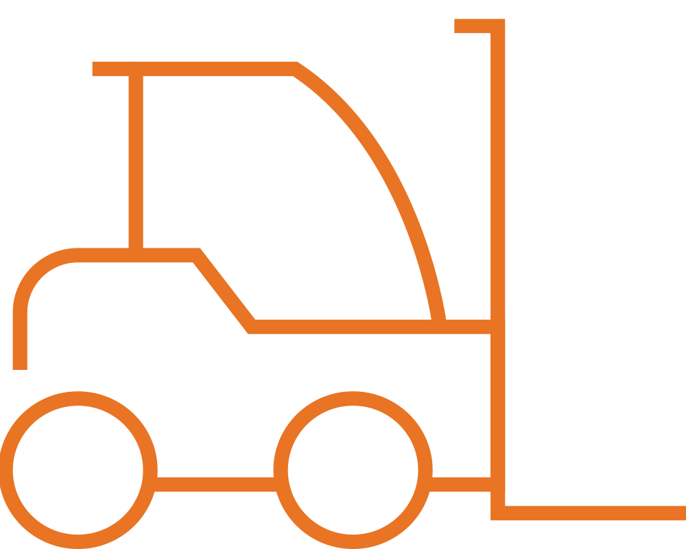 state of the art logistics forklift icon